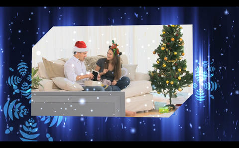 Montage of christmas celebrations Animation