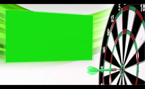 Slowmotion arrow flying at dartboard with appearin Animation