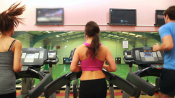 Women on treadmill Footage