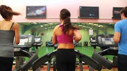 Women on treadmill Stock Video Footage