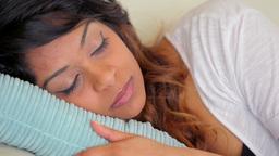 Woman is sleeping Stock Video Footage