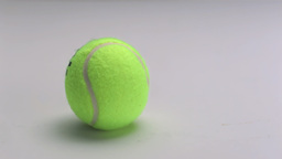 Tennis ball bouncing on the floor Footage