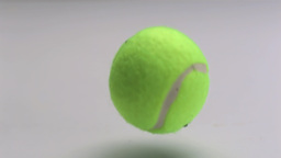 Tennis ball falling Stock Video Footage