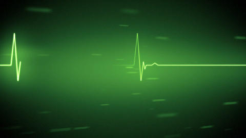 Green heart monitor line with moving background Animation