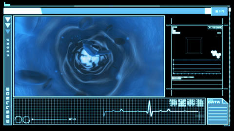 Medical digital interface showing bloodflow Animation
