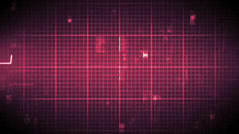 Fast heart rate on moving grid background Animation