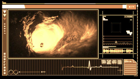 Digital interface featuring bloodflow through vein Animation