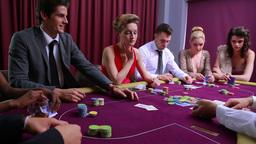 Man wins poker game Footage