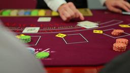 Dealer dealing poker cards Footage