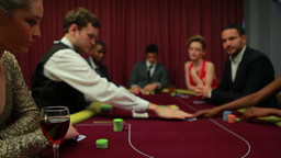 Two men left in poker game with everyone else fold Footage
