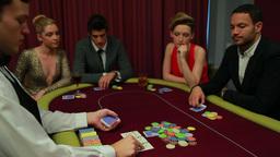 Dealer placing cards Footage