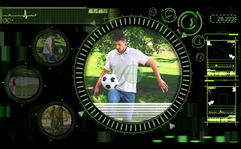 Interface showing various outdoor activities Stock Video Footage