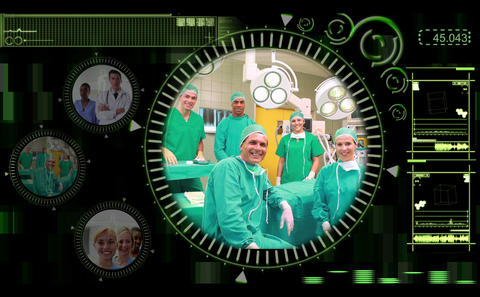 Hand selecting clips of various medical teams on i Stock Video Footage