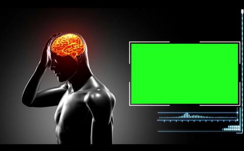 Computersimulated Human Having Headache stock footage