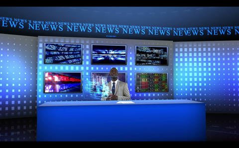 Reporter reporting news worldwide Animation