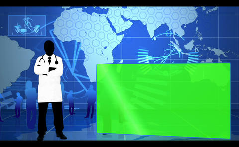 Blue global and medical interface Animation