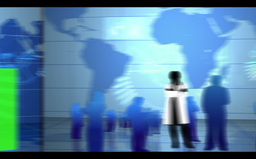 Blue global and medical interface Stock Video Footage