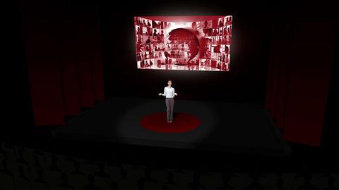 Businesswoman presenting on international business Animation