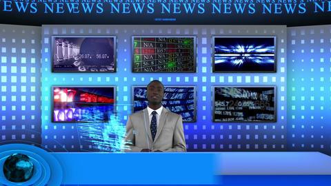 News showing stock market Animation