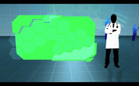 Chroma keys on medical background Animation