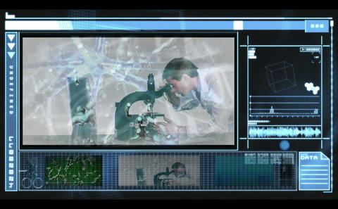 Medical Interface Showing Medical Research And Neu stock footage