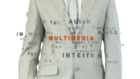 Finger pointing at word multimedia Stock Video Footage