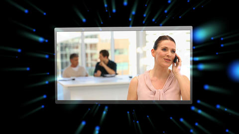 Montage of business people on calls Stock Video Footage