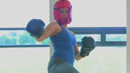 Video of woman boxing Stock Video Footage