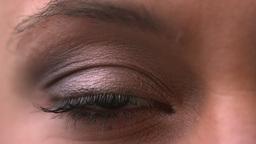 Close up of opening ang closing eye Live Action