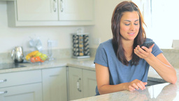 Woman using mobile phone Footage