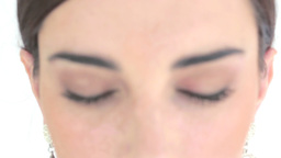 Close up of eyes with eyeshadow Stock Video Footage