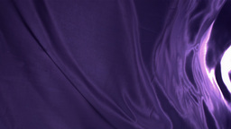Purple cloth waving Stock Video Footage