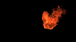 Little flame moving in slowmotion Stock Video Footage