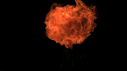 Small fireball moving in slow-motion Live Action