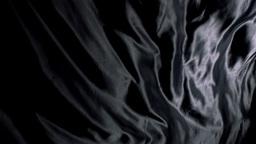 Black silk cloth rippling Footage