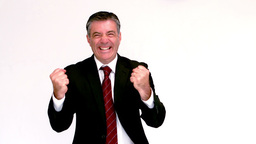 Businessman looking exited Stock Video Footage
