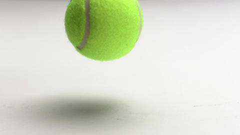 Tennis ball rebounding Footage