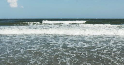 1857 Ocean Waves at the Beach, 4K Footage