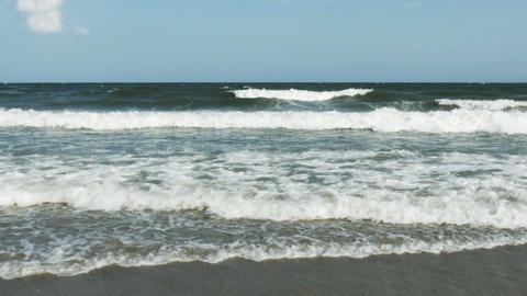 1857 Ocean Waves at the Beach, HD Stock Video Footage
