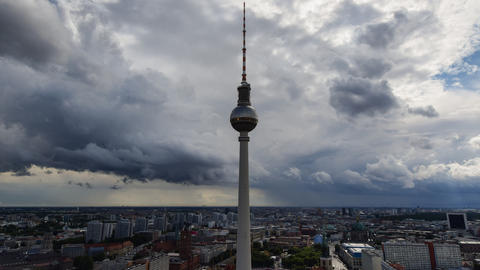 4k UHD berlin thunderstorm approaching tv 11456 Footage