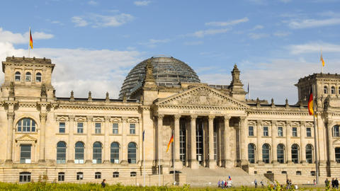 Berlin German Bundestag Time Lapse Close Pan 11459 stock footage