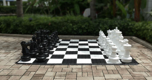 1897 Giant Chess Set Outside, 4K Footage