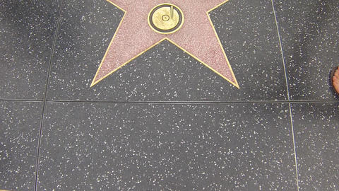 hollywood walk of fame star walking shot britney s Stock Video Footage