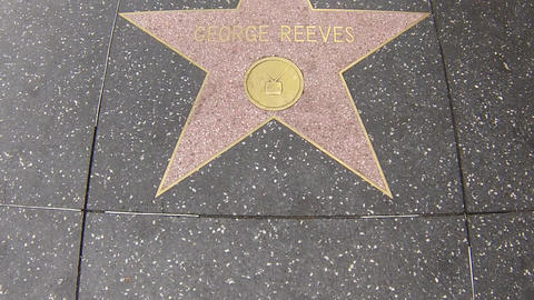 hollywood walk of fame star walking shot george re Footage