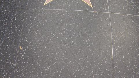 hollywood walk of fame star walking shot jackie ch Stock Video Footage