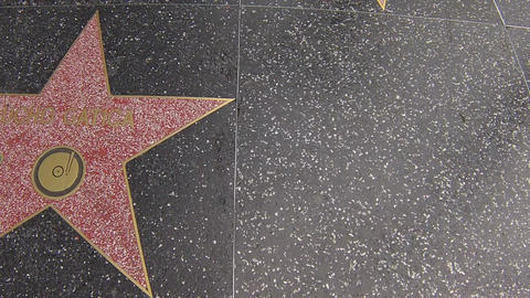hollywood walk of fame stars walking shot Footage