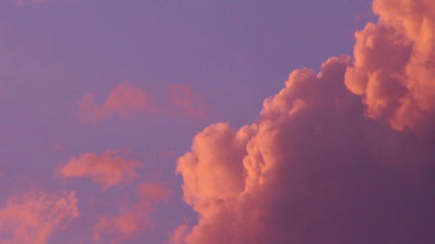 Romantic sunset clouds Stock Video Footage