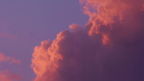 Romantic sunset clouds Footage