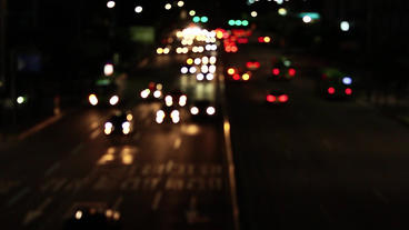 Traffic Out Of Focus Bokeh stock footage