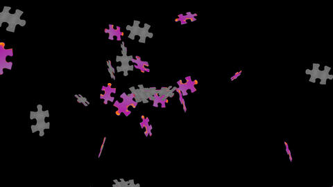 Puzzle Piece Particle stock footage